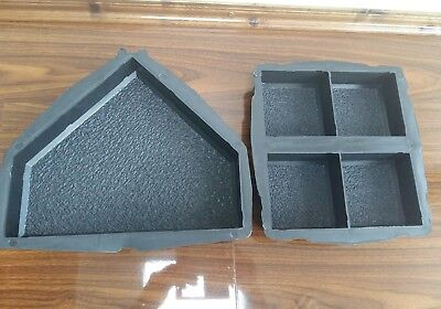 Set of 2 concrete garden mould paving interlocking floor tile driveway pathmaker