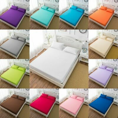 Extra Deep Fitted Sheets Luxury 100% Percale Cotton 180 Thread Count All Sizes