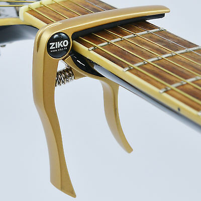 Capo – Quick Trigger Release for Acoustic & Electric Guitar and Ukulele - Gold