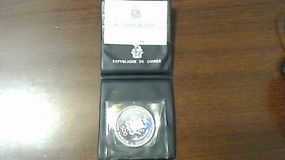 REPUBLIQUE DE GUINEE 500 FRANCS 1970 Olympia Munich SILVER PROOF COIN
