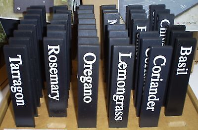 ashortwalk ECO HERB LABELS MARKERS UK made recycled plant pots BUY 4 GET 1 FREE!