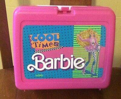 Retro 1989 Cool Times Barbie Lunch Box With Thermos