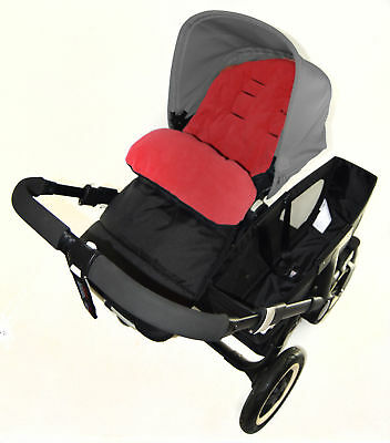 Footmuff / Cosy Toes Compatible with OBaby Travel System Pushchair Fire Red