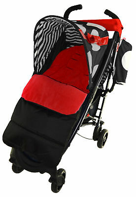 Footmuff / Cosy Toes Compatible with OBaby Tiny Tatty Teddy Pushchair Fire Red