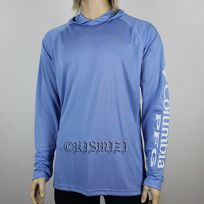"New Mens Columbia PFG ""Terminal Tackle"" Omni-Shade/Wick Hoodie T-Shirt Top Tee"