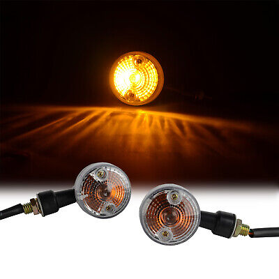 2x new Universal Black  Mini Motorcycle Turn Signal Indicator Light Lamp Bulb !