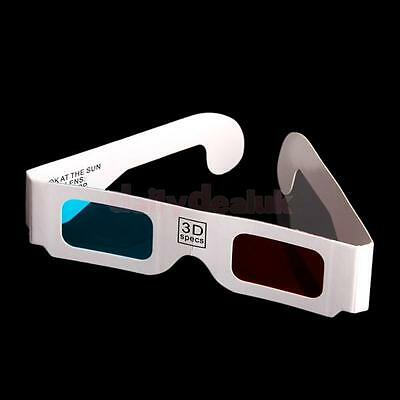 100x Red-Cyan (Blue) Anaglyph 3 DimensionaL 3D Glasses