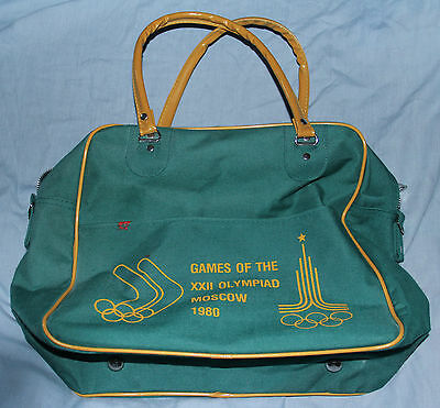 Moscow 1980 Olympic Games Australian Tour Bag