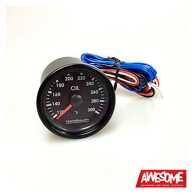 Newsouth Performance Indigo 300°F 52Mm Oil Temp Gauge Golf 4 & 5 Gau003