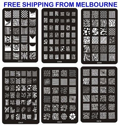 NEW Nail Art Stamp Template Image Polish Stamping Plates Manicure Stencil Design