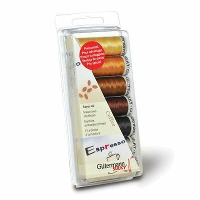 Gutermann Machine Embroidery Rayon 40 Coffee Thread Set [7313405]