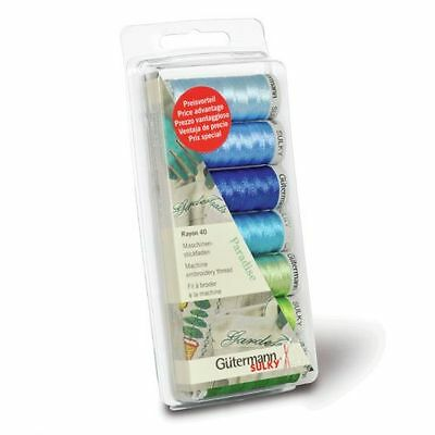 Gutermann Machine Embroidery Rayon 40 Paradise Thread Set [7313403]