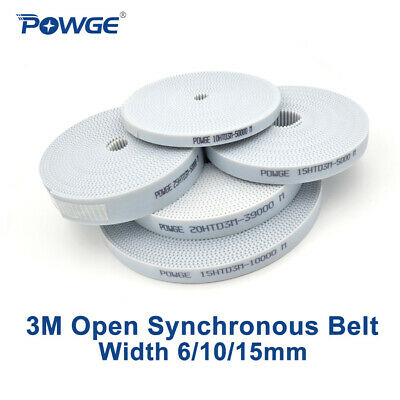PU White HTD 3M Open ended Timing Belt Width 6/9/10/15mm Polyurethane steel CNC