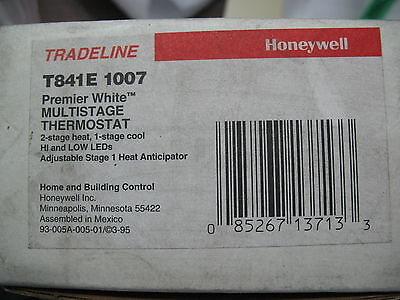 New Honeywell T841E 1007 Multistage Thermostat (White)