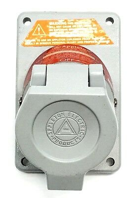 Appleton EFSR-20232 20 Amp Explosion Proof Factory Sealed Aluminum Receptacle