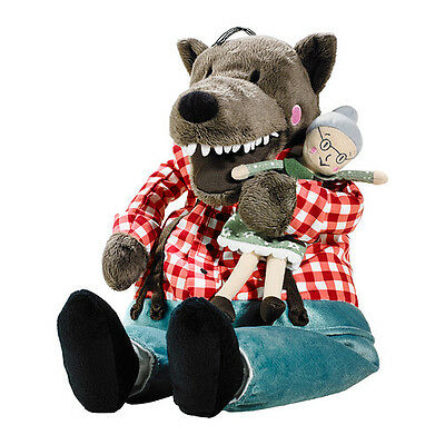 IKEA Lufsig BIG Soft Toy Wolf & Granny from Little Red Hood Cap 45 cm Animal