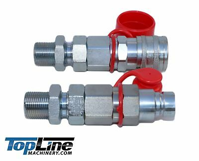 """TL26 5/8"""" ORFS Thread 1/2 body Flat Face Quick Connect Coupler Bobcat Skid Steer"""