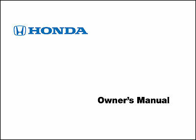 honda 2001 accord 4 door ka kl owner manual 01 40 95 picclick rh picclick com 02 honda accord service manual 2002 honda accord owners manual pdf