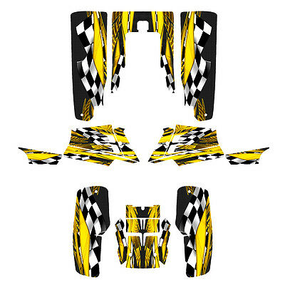 Yamaha Banshee graphics decal sticker kit full coverage #3500 Yellow