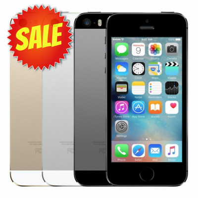 Apple iPhone 5S (Factory Unlocked) AT&T T-Mobile Verizon Gray Silver Gold 5 S 4""
