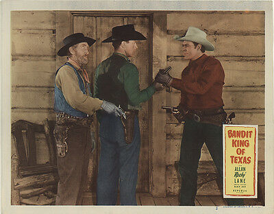 Bandit King of Texas 1949 Original Movie Poster Action Western