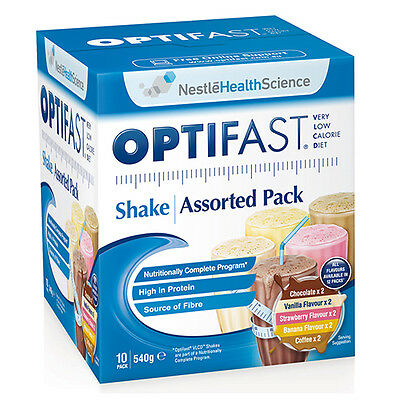 NEW Optifast VLCD Shakes Pack Vlcd Shakes Assorted Diet Nutrition 10Pk