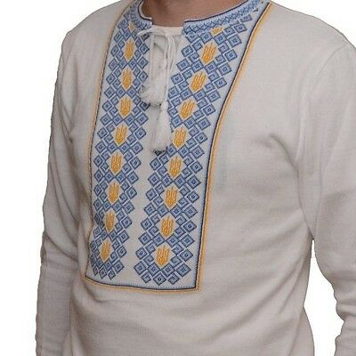 Ukrainian Man Shirt Mens Vyshyvanka Tryzub Sweater Ukraine