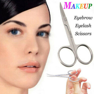 1pc New Stainless Steel Eyebrow Scissor  Curved Edge Professional Beauty Tool
