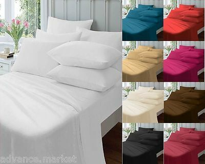 Percale Cotton Blend Fitted Sheets / Flat Sheets / Valence Sheets All Sizes