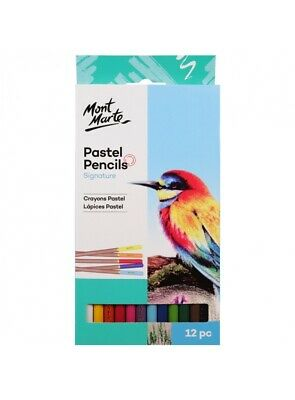 Mont Marte Pastel Pencils 12pce - Beautiful set of Pastels for Art and Craft