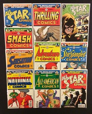 DC JUSTICE SOCIETY Comic Books Lot 10 ALL-STAR Golden Age Geoff Johns 1999 JSA