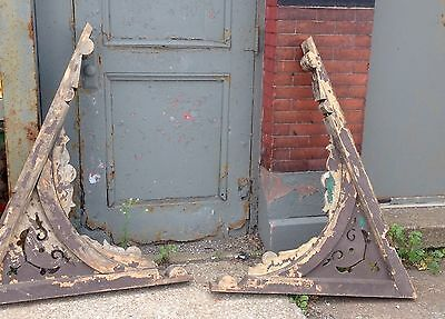 Pr Of Rare Oversized Primitive Corbels Greyhound Shipping