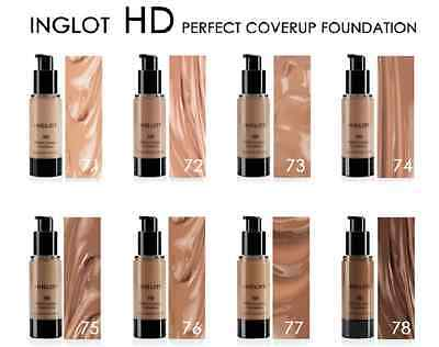 INGLOT HD Perfect Coverup Foundation  +  FREE triangle sponge applicator!