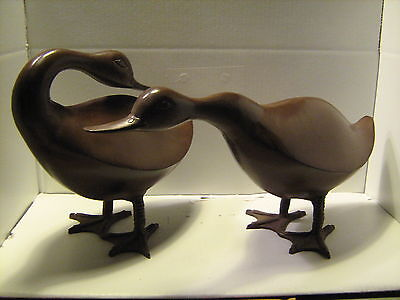 Geese Lawn Ornaments, metal, pair of 2-New