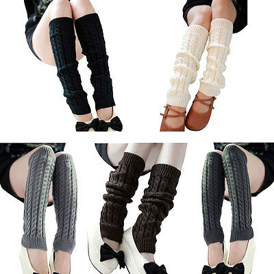 Girl Lady Women Knit Crochet Sock Leg Warmers Winter Dance Fancy Dress Accessory