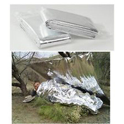 Foil Space Blanket Emergency Survival Blanket Thermal Rescue First Aid Silver