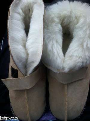 Genuine Sheepskin home house slippers unisex shoes fur 100% SUEDE LEATHER & WOOL