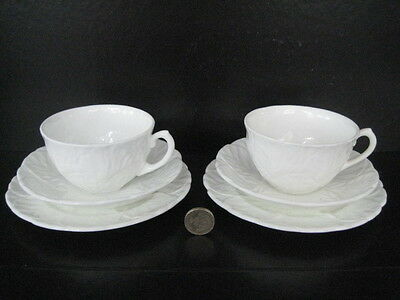 Vintage Pair Of Coalport Countryware Trios Cup Saucer Tea Plate English Wedgwood