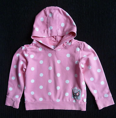Girls clothes 4-5 years NEXT pink/white spot hood top cotton 2nd item post-free!