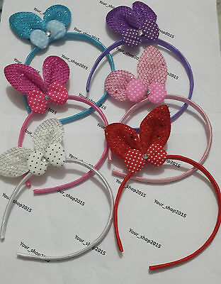 Satin Alice Band Headband with Boutique Rabbit Bow Hair Band Hair Accessories