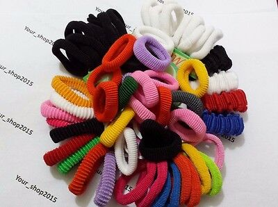 27x PIECE THICK ENDLESS SNAG FREE PONY TAIL ELASTIC BOBBLES PONIO HAIR BANDS SET