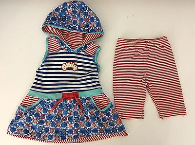 OILILY DESIGNER 2 piece oufit set hoodie Dress & leggings age 3 years / 98 Vgc