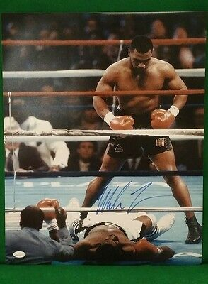 Mike Tyson, signed 16x20 with JSA