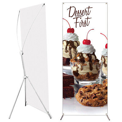 "Popup Banner Stand 24"" x 63"" Adjustable and Travel Bag"