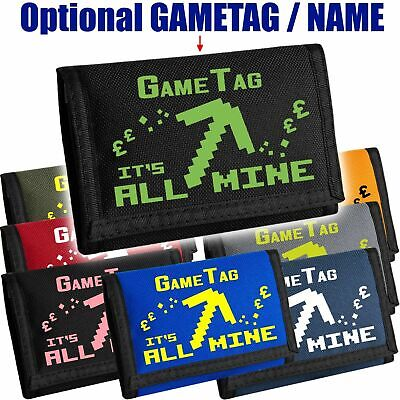 IT'S ALL MINE - Kids Gaming Wallet - Can be personalised with Name/GameTAG