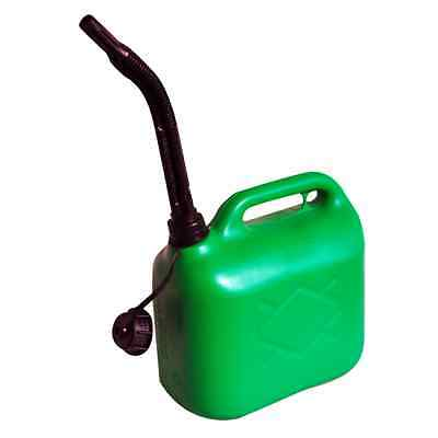 5 Litre Jerry Can Green Unleaded Petrol Fuel Oil Canister Container & Spout 5L