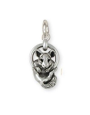 Solid Sterling Silver Chinchilla Charm Jewelry  CL2-C