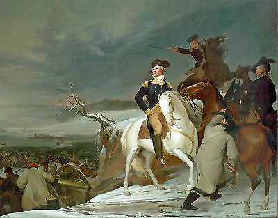 Revolutionary War Art George Washington Crossing the Delaware Canvas Print New