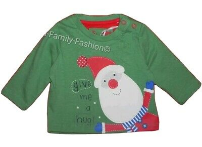 NEW TU Baby Boy Father Christmas Santa green hug top age up to 1 to 6-9 months