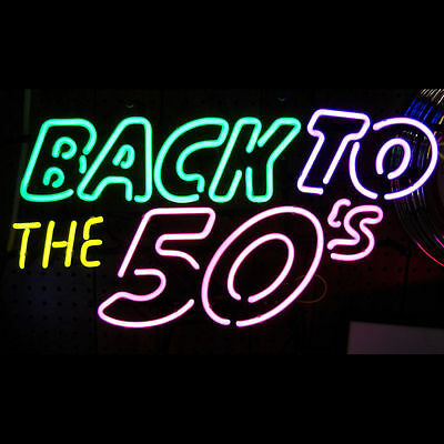 Neon Sign - Back To The 50's - Classic Retro 1950s Lit Sign Lamp